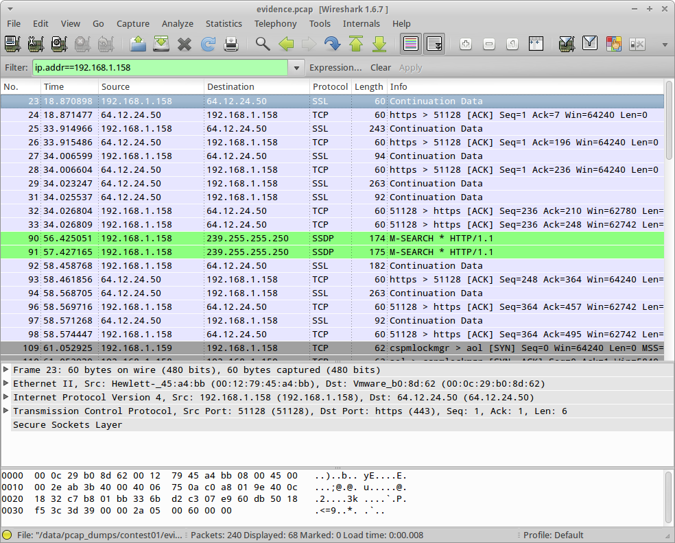 Fun with Wireshark and AIM |